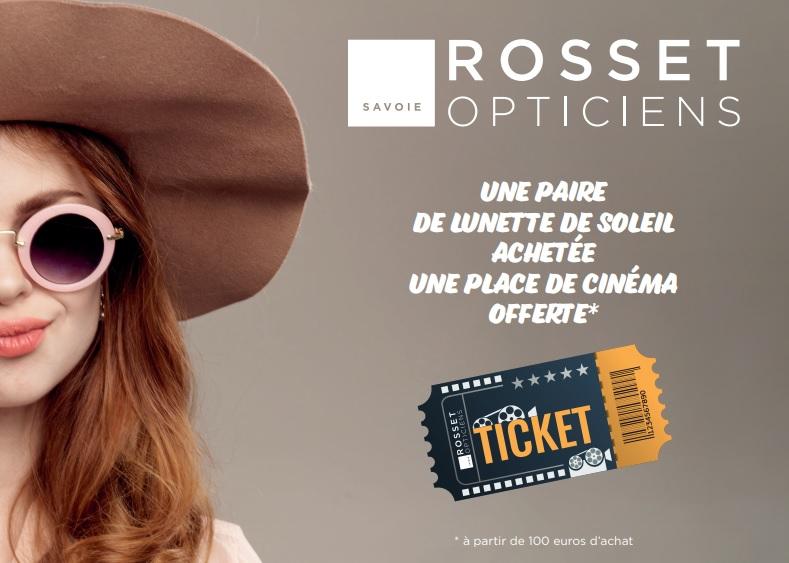 1d50eea164 Une place de cinéma offerte pour une paire de lunettes de soleil achetée !